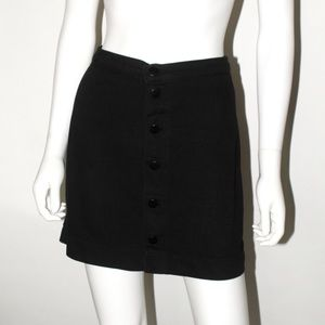 A-Line Button Up Denim Skirt